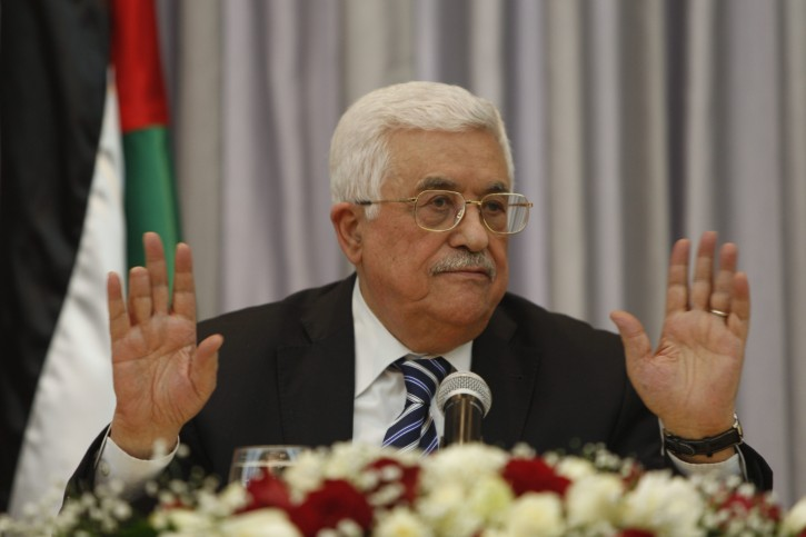 FILE -- In this Jan. 6, 2016 file photo, Palestinian President Mahmoud Abbas, also known as Abu Mazen, gestures as he speaks during a press conference, in the West Bank city of Bethlehem.  (AP Photo/Majdi Mohammed, File)