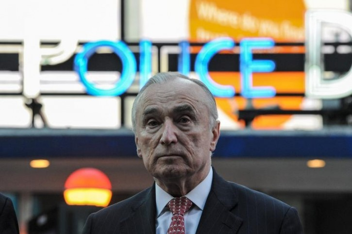 FILE - William Bratton, Police Commissioner of New York City speaks at a news conference in Times Square in the Manhattan borough in New York, March 22, 2016. REUTERS/Stephanie Keith