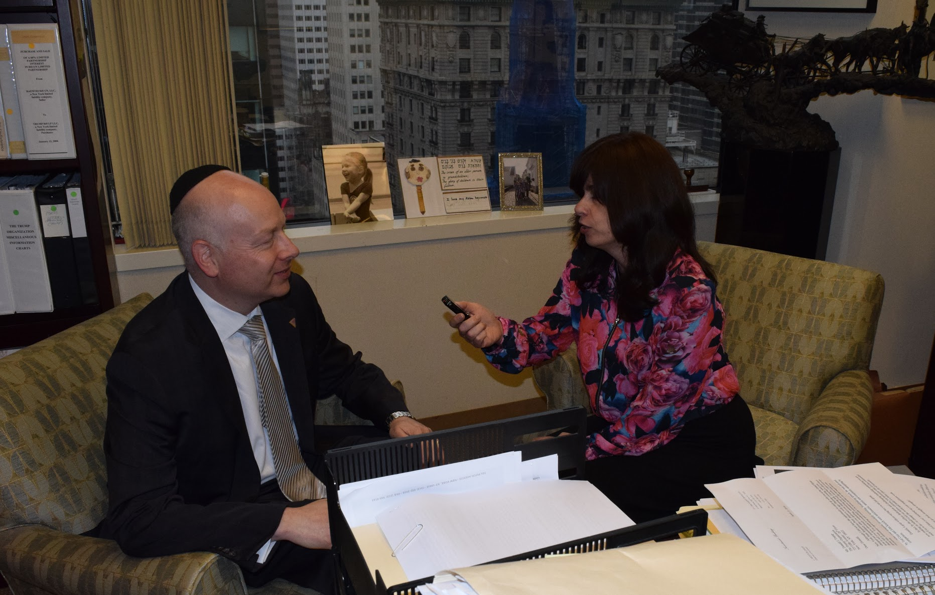 new york ny trump s orthodox jewish lawyer describes his boss vin news associate editor sandy eller in interview jason greenblatt at the trump tower in