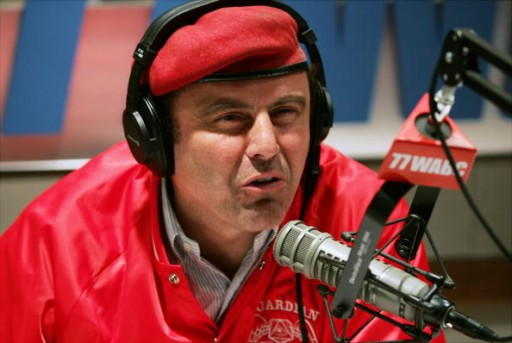 FILE 0  Morning talk-radio host Curtis Sliwa at work in the WABC studio today.  (Photo by Michael Albans/NY Daily News Archive via Getty Images)