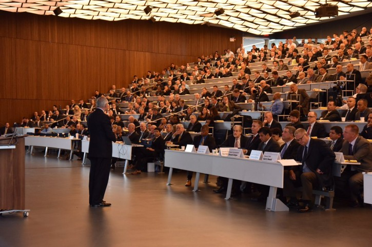 William Bratton, Police Commissioner of New York City speaks at the Executive All In conference. (NYPD)