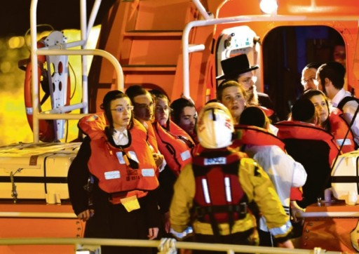 Stamford Hill children are rescued from cliffs in Dover by the RNLI on Monday night (Picture: Stuart Brock Photography)
