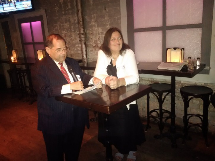 Nadler with his wife waiting for the results in his Brooklyn office on June 28, 2016. (the Friedlander Group)