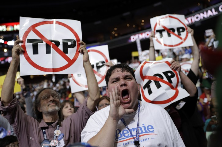 Washington – Favored By Obama, TPP Deal Draws Ire At Dem, GOP Conventions