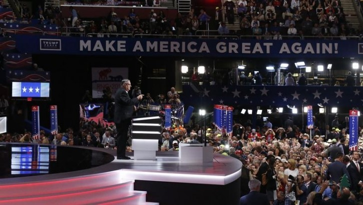 Maricopa County Sheriff Joe Arpaio speaks at the Republican National Convention in Cleveland, Ohio, U.S. July 21, 2016. REUTERS/Mario Anzuoni