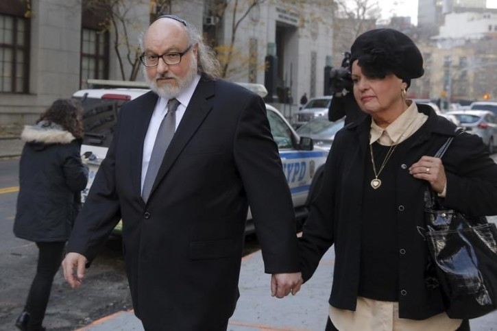FILE - Convicted Israeli spy Jonathan Pollard departs U.S. District court after a hearing with his wife Elaine Zeitz in the Manhattan borough of New York December 14, 2015. REUTERS/Lucas Jackson