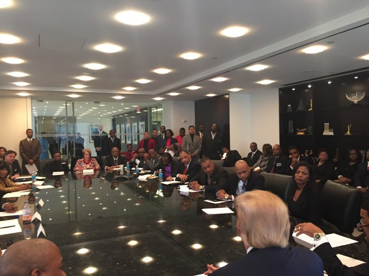 National Diversity Coalition for Trump members meeting with Mr.Trump