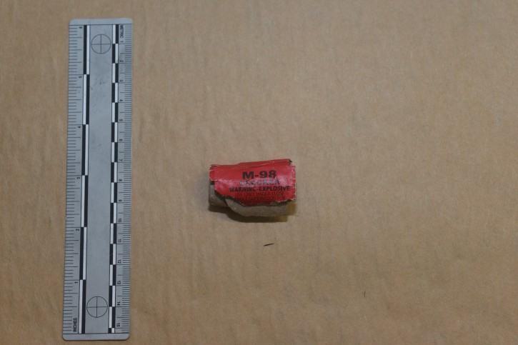 Clarkstown police released photographs today showing fragments of one of the devices that exploded