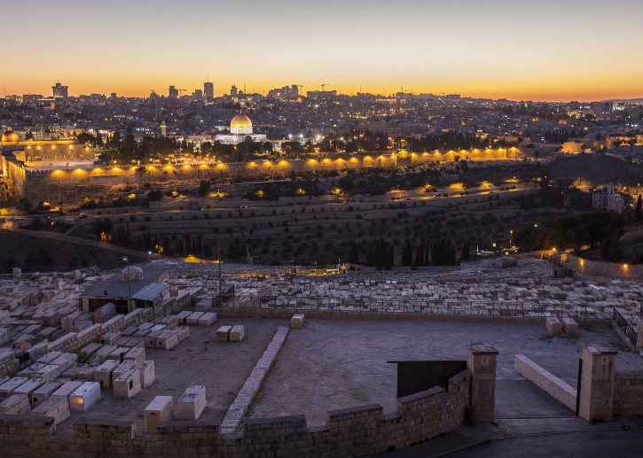 View of Jerusalem and Temple Mount from Mount of Olives