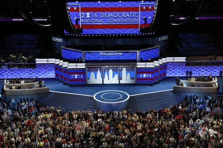 FILE - Delegates pose for the official group photo at the opening session of the Democratic National Convention in Philadelphia, Pennsylvania, U.S. July 25, 2016  REUTERS/Rick Wilking.