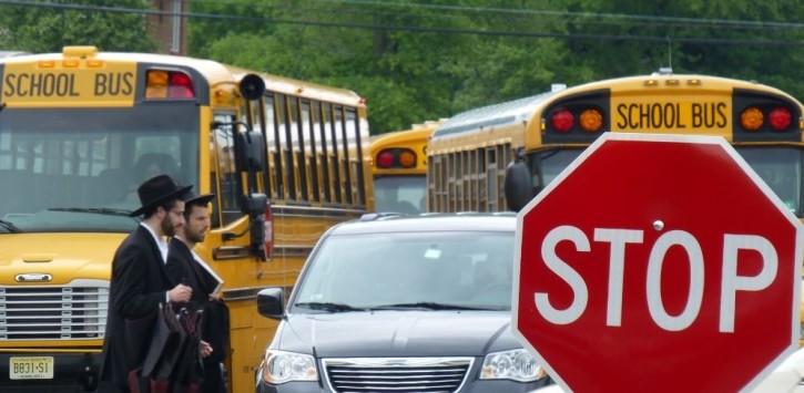 School buses are seen in Lakewood, NJ (Photo courtsey Lakewoodscoop.com)