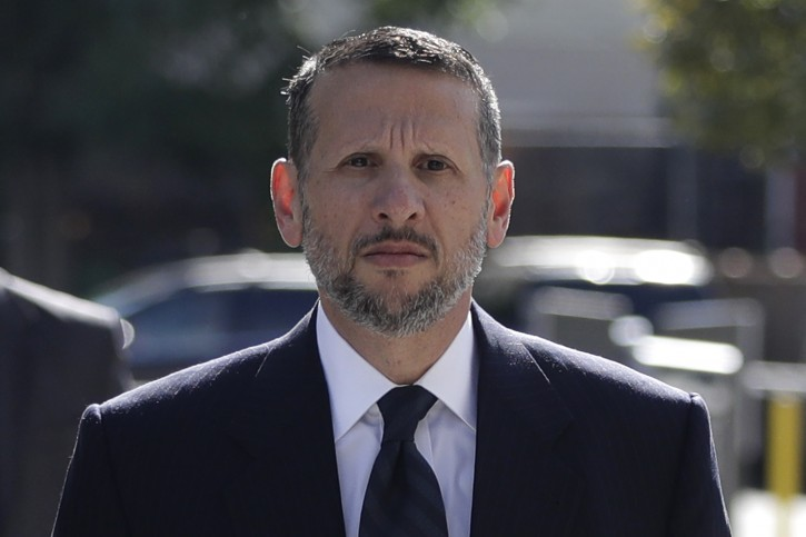 David Wildstein arrives at Martin Luther King Jr. Federal Courthouse for a hearing, Friday, Sept. 23, 2016, in Newark, N.J. Wildstein, pleaded guilty last year to orchestrating traffic jams in 2013 to punish a Democratic mayor who didn't endorse Gov. Chris Christie.  (AP Photo/Julio Cortez)
