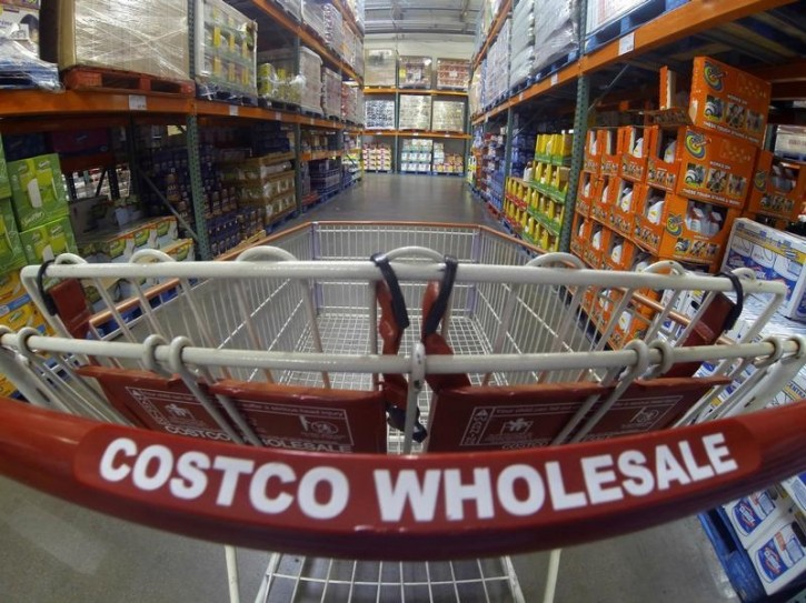 FILE - A Costco shopping cart is shown at a Costco Wholesale store in Carlsbad, California September 11, 2013.  REUTERS/Mike Blake/File Photo