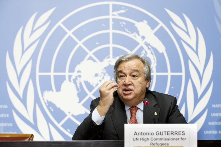 FILE - In this Friday, Dec. 18, 2015 file photo, United Nations High Commissioner for Refugees Antonio Guterres speaks during a news conference at the European headquarters of the United Nations in Geneva, Switzerland. On Wednesday, Sept. 5, 2016, members of the Security Council unanimously agreed that Guterres should be the next U.N. secretary-general. A UNSC vote is expected Thursday; the candidacy then goes to the General Assembly for final approval.  (Salvatore Di Nolfi/Keystone via AP)