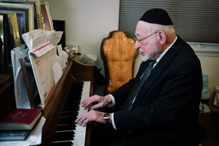 March 31st 2015 in his home in Brooklyn. (Eli Wohl/VINnews.com)