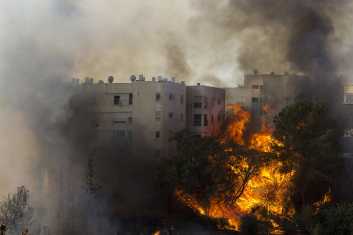 Northern Israel In Flames