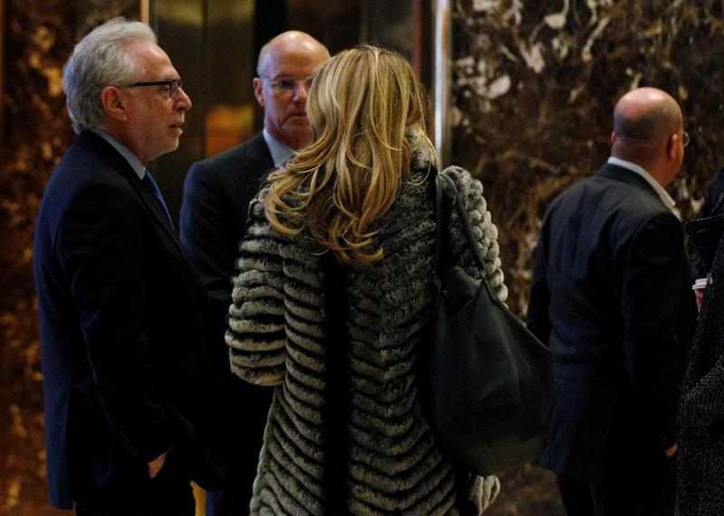 New York - Trump Meets With News Anchors, TV Executives In NYC
