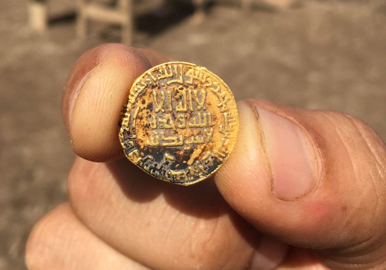 Students find 1,200-year-old coin in dig.