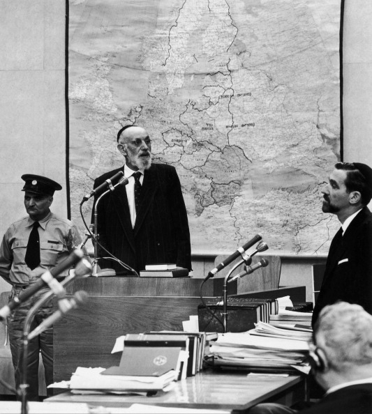 Zindel Grynszpan Testifies In 1961 About How He And His Family Were Forced Out Of Their Home By German Police. Zindel Grynszpan Is The Father Of Herschel Grynszpan Who Killed The German Officer Ernst Vom Rath In Paris On November The 7Th 1939 In Revenge For The Treatment Of His Family. This Event Was Used By Goebbels To Launch A Pogrom Against The Jews In Germany: It Is The Crystal Night.   (Photo by Keystone-France/Gamma-Keystone via Getty Images)