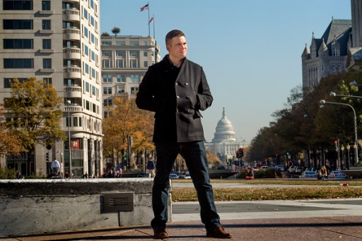 FILE - :  Richard Spencer is in town for the largest white nationalist and Alt Right conference of the year in Washington, DC on November 18, 2016.  (Photo by Linda Davidson/The Washington Post via Getty Images)