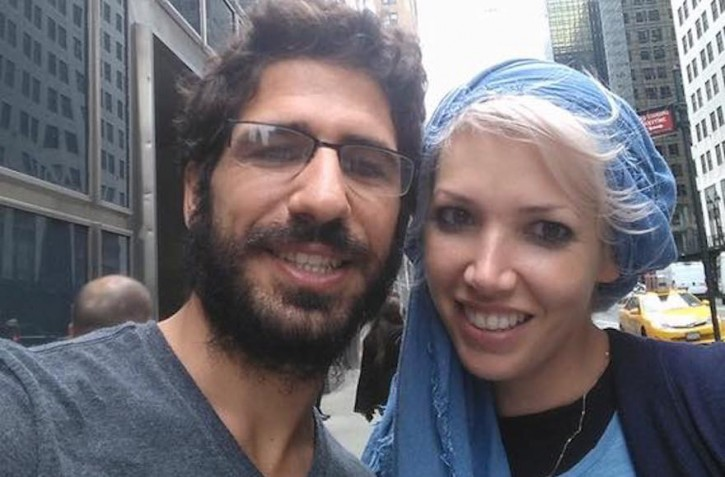 Shimon Abta and his wife, who asked not to be named, in happier times. (Facebook)