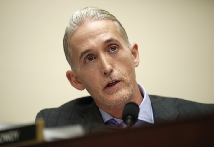 House Judiciary Committee member Rep. Trey Gowdy, R-S.C., questions FBI Director Christopher Wray during a House Judiciary hearing on Capitol Hill in Washington, Thursday, Dec. 7, 2017, on Oversight of the Federal Bureau of Investigation. (AP Photo/Carolyn Kaster)