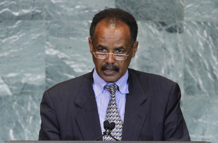 "FILE - In this file photo dated Friday, Sept. 23, 2011, President Isaias Afwerki of Eritrea addresses the 66th session of the United Nations General Assembly at U.N. headquarters.  Eritrean officials on Saturday claimed ""victory"" after the UNESCO World Heritage Committee unanimously decided to put the African nation's capital city of Asmara onto the World Heritage list, despite widespread criticism of hte government and of Afwerki's rule. (AP Photo/Jason DeCrow, FILE)"
