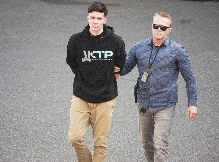 SAMUEL WOODWARD, 20, a friend of the slain University of Pennsylvania student, was taken into custody Friday, by Sheriff's investigators in connection with the death of Blaze Bernstein. (Credit Image: © Ken Steinhardt/The Orange County Register via ZUMA Wire)