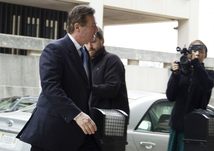 Paul Manafort, President Donald Trump's former campaign chairman, arrives at the federal courthouse, Wednesday, Feb. 28, 2018, in Washington. (AP Photo/Jose Luis Magana)
