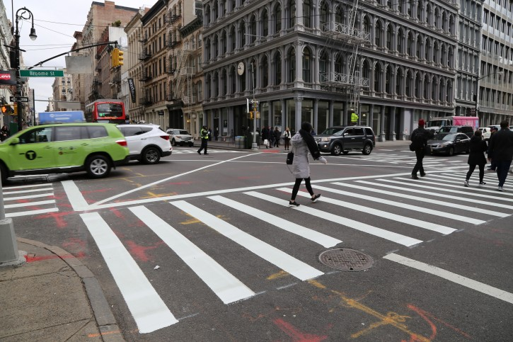 "NYC DOT and NYPD bring back ""don't block the box"" to 50 busy intersections citywide."