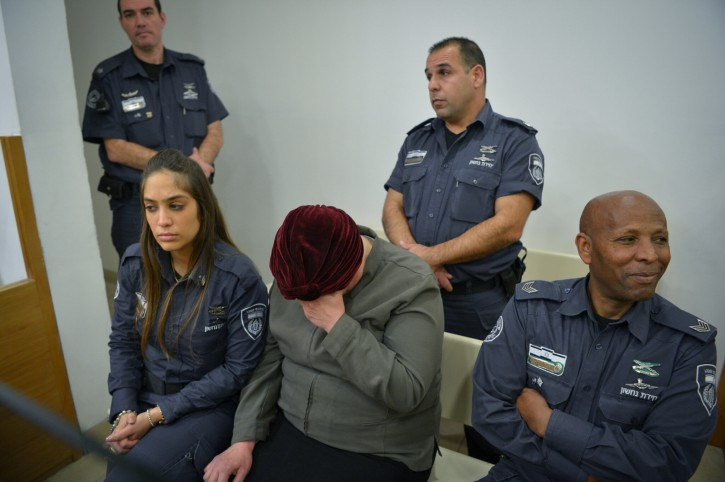 FILE - An Ultra orthodox woman, a teacher wanted in Australia for child sex abuse arrested ahead of extradition, seen at the Magistrate's Court in Petach Tikva. February 13, 2018. Photo by Flash90