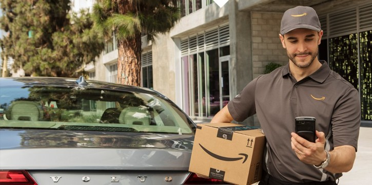 Image result for To beat porch thieves Amazon slips packages in car trunks