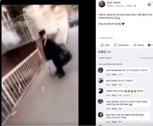Screenshot from the original video posted, which was later removed by Facebook