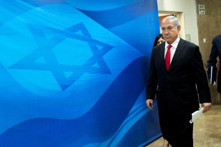 Israeli Prime Minister Benjamin Netanyahu arrives ahead of the weekly cabinet meeting at the prime minister's office in Jerusalem, June 10, 2018. Jim Hollander/Pool via Reuters