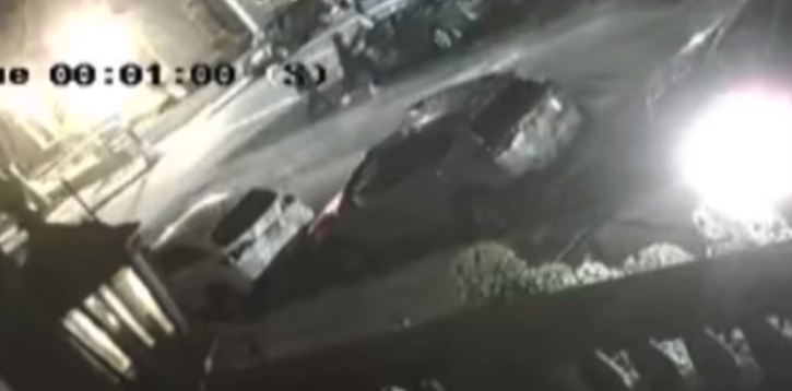 Image from Survailence Footage shoing Beating of Jewish Man in Crown Heights on May 1