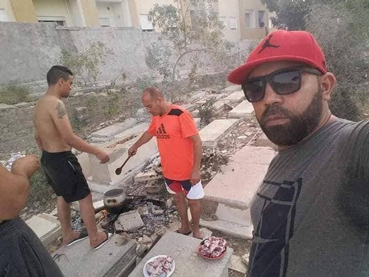 Sousse, Tunisia – Photos Show Arab Men Having Barbeque In Jewish Cemetery In Tunisia