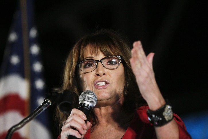 "ILE - In this Sept. 21, 2017, file photo, former vice presidential candidate Sarah Palin speaks at a rally in Montgomery, Ala. The former Republican vice presidential candidate says she fell victim to British comedian Sacha Baron Cohen during an interview for his upcoming Showtime series, ""Who Is America?"" In a Facebook post on Tuesday, July 10, 2018, the former Alaska governor wrote she and a daughter traveled across the country for what she thought was a legitimate interview. But she says Cohen had ""heavily disguised himself"" as a disabled U.S. veteran in a wheelchair. (AP Photo/Brynn Anderson, File)"