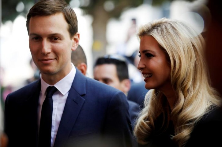 FILE - Senior White House Advisers Jared Kushner and Ivanka Trump attend a reception held at the Israeli Ministry of Foreign Affairs in Jerusalem ahead of the moving of the U.S. embassy to Jerusalem, May 13, 2018. REUTERS/Amir Cohen