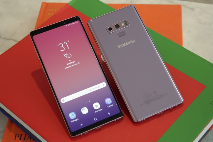 The Samsung Galaxy Note 9 is shown in this photo, in New York, Tuesday, Aug. 7, 2018. The improvements in the new Galaxy Note 9 phone reflect a smartphone industry that has largely pushed the limits on hardware. (AP Photo/Richard Drew)