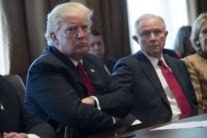 Washington – Trump Says Attorney General Sessions' Safe In Job At Least Until November