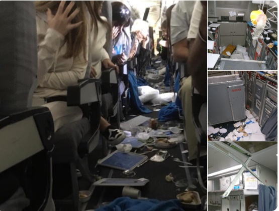 Images from inside the plane. (Twitter - Martin Narducci)