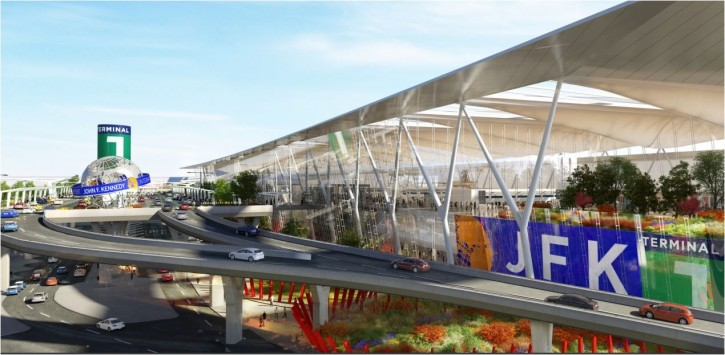 Render of the proposed JFK Airport re-design.