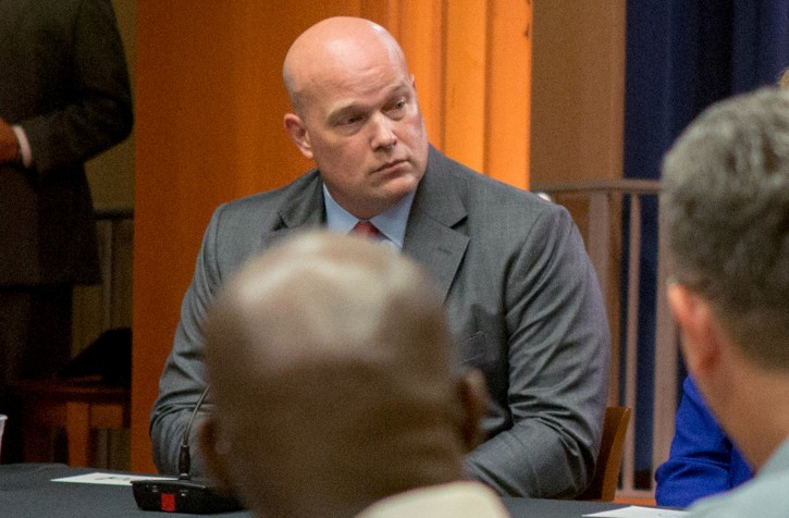 FILE - Chief of Staff to the Attorney General Matthew Whitaker attends a roundtable discussion with foreign liaison officers at the Justice Department in Washington, U.S., August 29, 2018. REUTERS/Allison Shelley/File Photo
