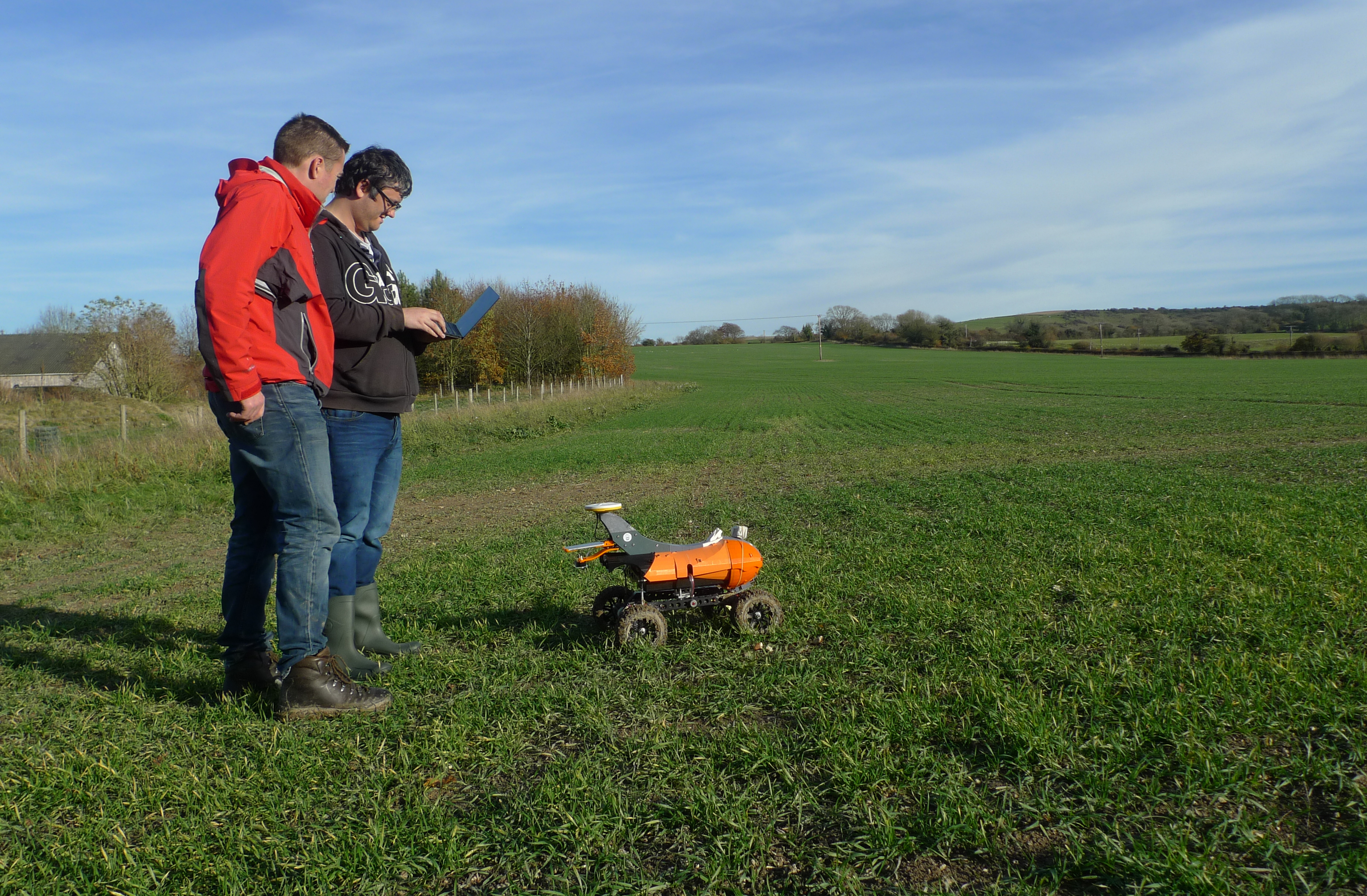 East Meon England Robots In The Field Farms Embracing Autonomous
