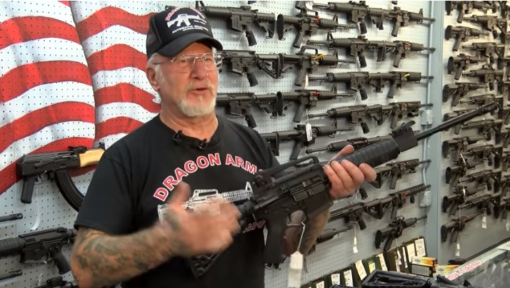 Mel Bernstein, the owner of Dragon Arms store