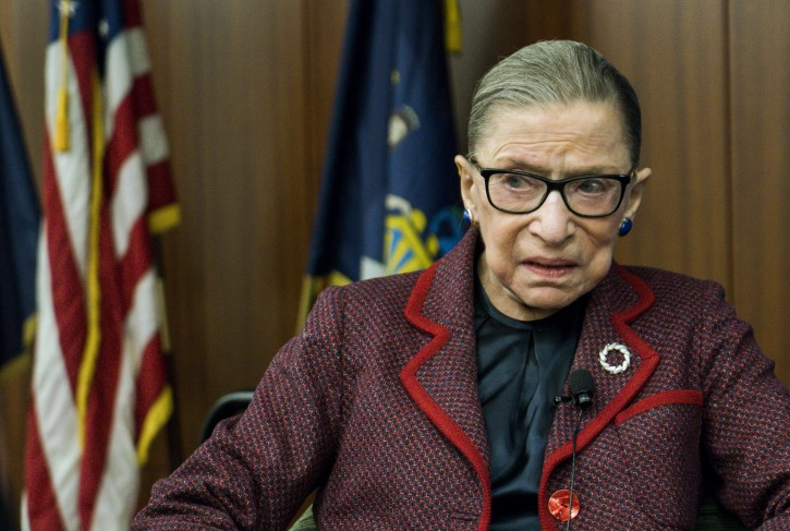 FILE -  United States Supreme Court Justice Ruth Bader Ginsburg is seen during an event at New York Law School in New York, New York, USA, 06 February 2018.  EPA-EFE/JUSTIN LANE