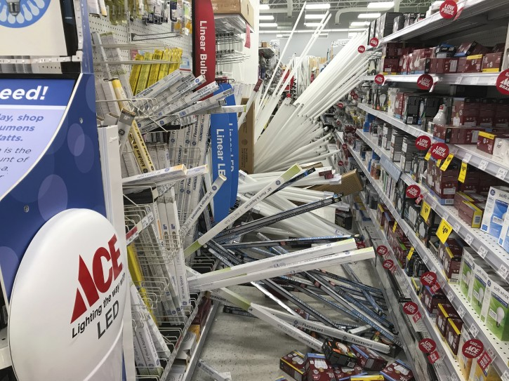 Andy's Ace Hardware in Muldoon after the Nov. 30, 2018 earthquake hit Southcentral Alaska. (Bill Roth / ADN)