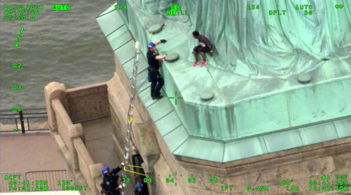 New York – Statue Of Liberty Climber Convicted In July 4 Protest
