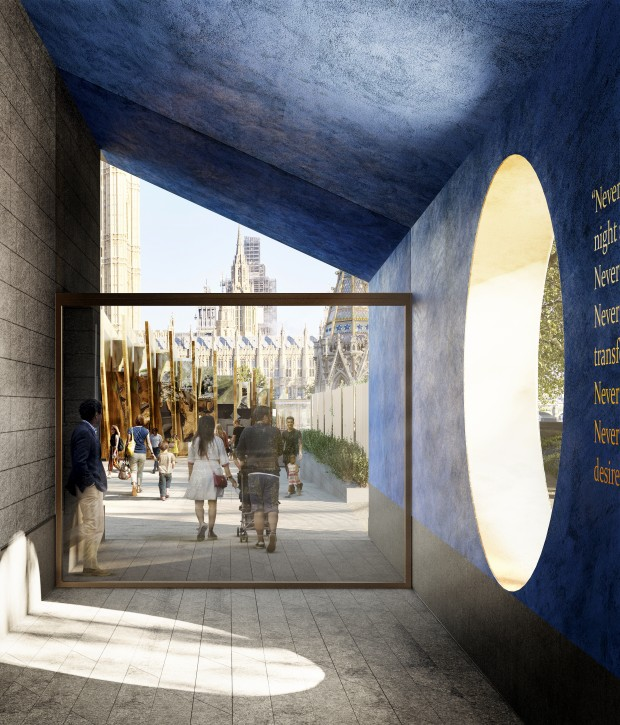 A handout photo made available by the UK Holocaust Memorial Foundation on 06 December 2018 shows the new designs for the Holocaust Memorial in London, Britain.