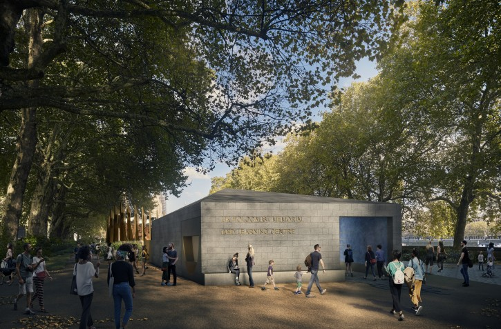 A handout photo made available by the UK Holocaust Memorial Foundation on 06 December 2018 shows the new designs for the Holocaust Memorial in London, Britain. The UK Holocaust Memorial is a planned memorial to the victims of the Holocaust that is intended to be built in the southern part of Victoria Tower Gardens in London, close to the Houses of Parliament. The memorial is intended to honor the Jewish victims of the Holocaust and all other victims of Nazi persecution.  EPA-EFE/Hayes Davidson / UK Holocaust Memorial Foundation